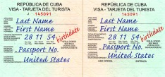 Tourist Card Example